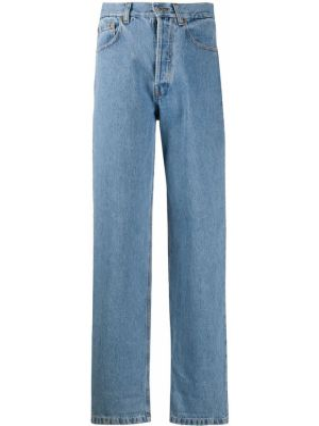 Klasyczne niebieskie jeansy z wysokim stanem Forte Dei Marmi Couture