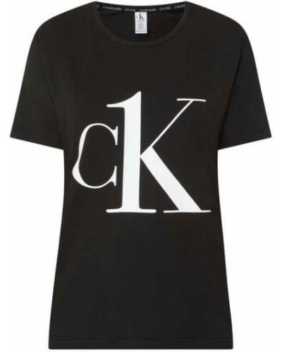 Czarna piżama bawełniana z printem Ck One