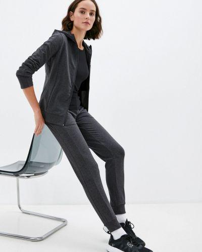 Серый костюмный спортивный костюм Ea7