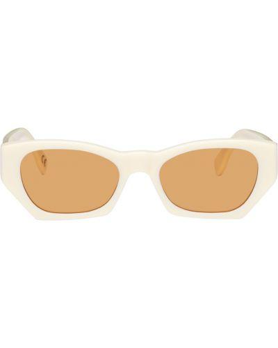 Okulary skorzane - białe Retrosuperfuture