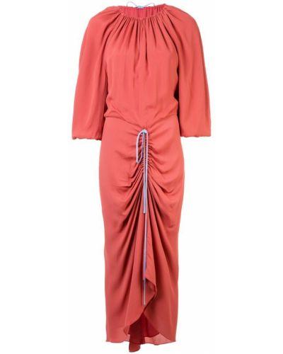 Плиссированное приталенное платье миди Bianca Spender