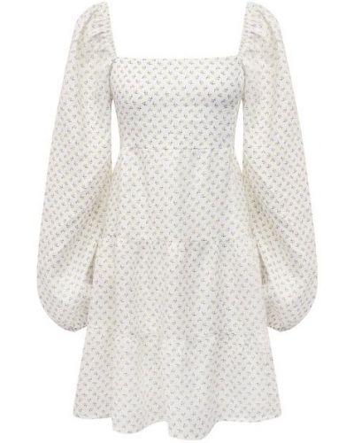 Белое платье с подкладкой из вискозы Faithfull The Brand