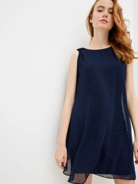 Вечернее платье синее весеннее Naf Naf