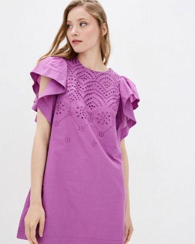 Фиолетовое прямое платье Ora
