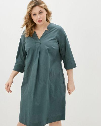 Повседневное зеленое платье Ulla Popken