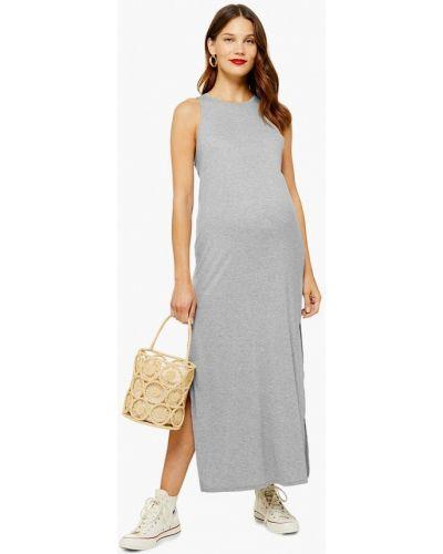 Платье для беременных весеннее серое Topshop Maternity