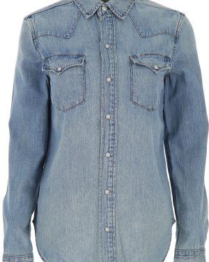 Dżinsowa koszula na przyciskach z kieszeniami Ralph Lauren