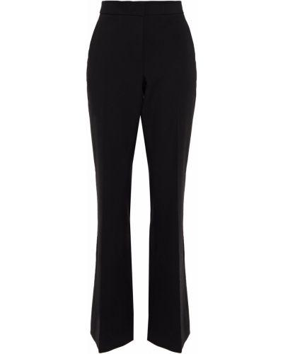 Czarne spodnie z paskiem z wiskozy Tibi