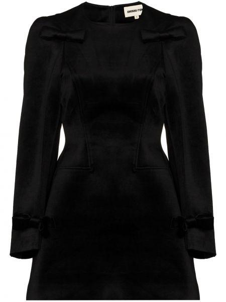 Czarna sukienka mini rozkloszowana Shushu/tong