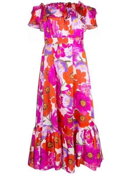 Платье мини розовое миди Borgo De Nor
