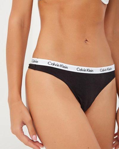 Черный стринги набор Calvin Klein Underwear
