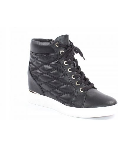 Czarne sneakersy materiałowe Aldo