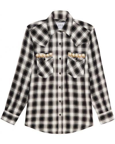 Рубашка из вискозы - белая Forte Couture