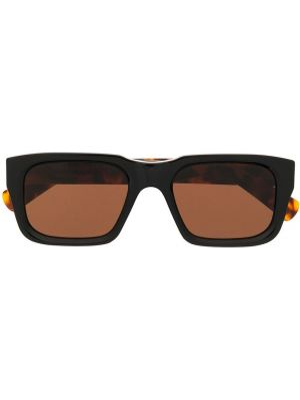 Муслиновые черные солнцезащитные очки квадратные Retrosuperfuture