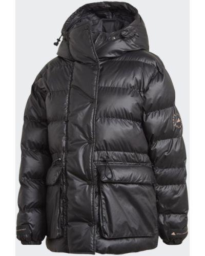 Теплая черная утепленная куртка Adidas