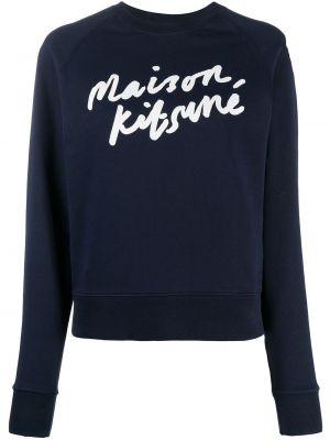 Толстовка длинная - синяя Maison Kitsuné