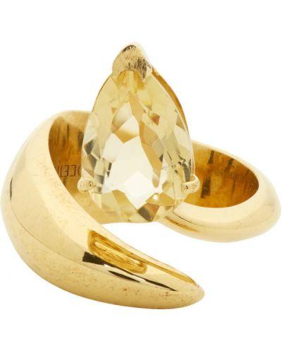 Żółty złoty pierścionek Alan Crocetti
