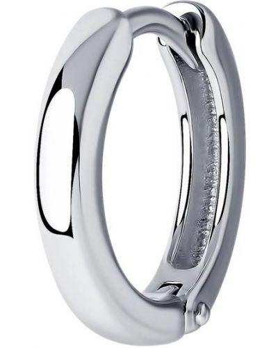 Серебряные серебряные серьги с декоративной отделкой Sklv