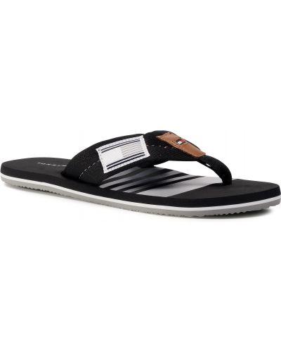 Czarny plaża sandały z paskami Tommy Hilfiger