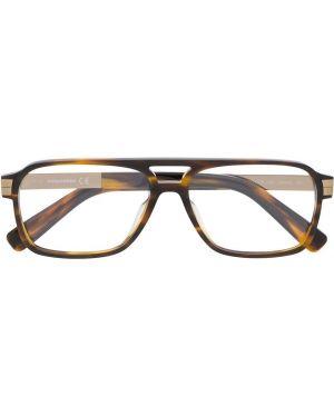 Очки хаки квадратные Dsquared2 Eyewear