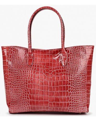 Кожаный сумка шоппер лаковая Lamania