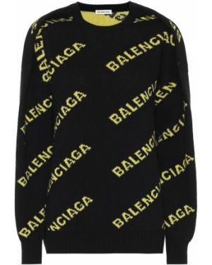 Свитер жаккардовый шерстяной Balenciaga