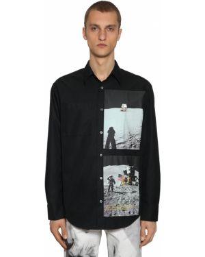 Klasyczna czarna klasyczna koszula bawełniana Calvin Klein Established 1978