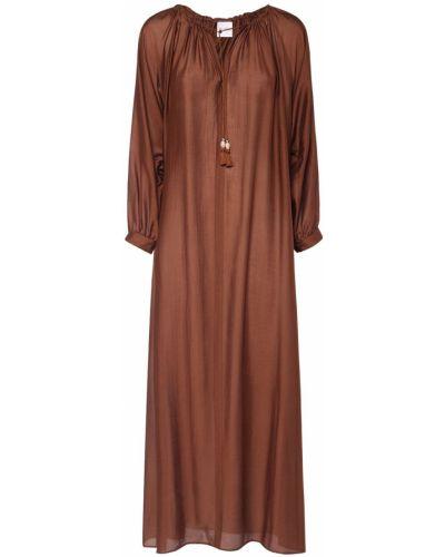 Коричневое платье на пуговицах Max Mara