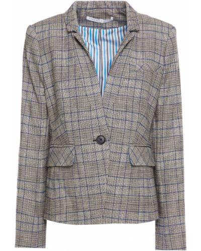 Серый пиджак с подкладкой на пуговицах Veronica Beard