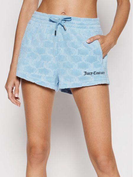 Niebieskie spodenki sportowe Juicy Couture