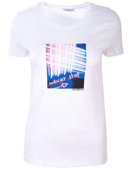 Хлопковая белая футбольная футболка с круглым вырезом Dirk Bikkembergs
