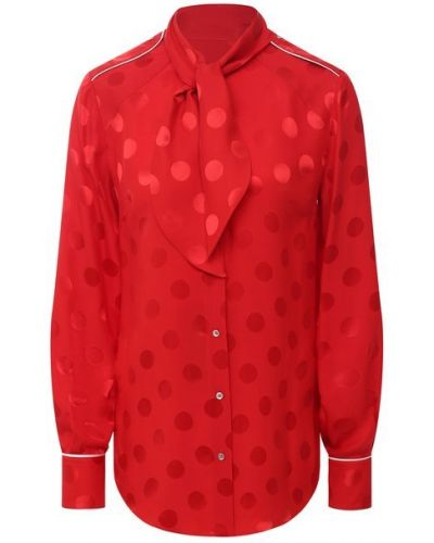 Шелковая красная блузка Dolce & Gabbana