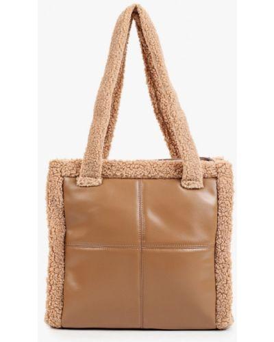 Бежевая зимняя сумка Fabretti