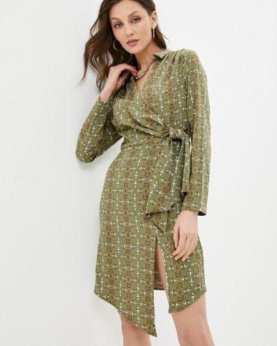 Зеленое платье с запахом Love Republic