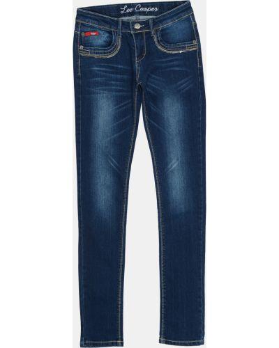Синие джинсы на резинке с пайетками Lee Cooper