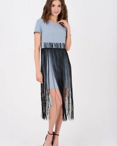 Вечернее платье - голубое Ricamare