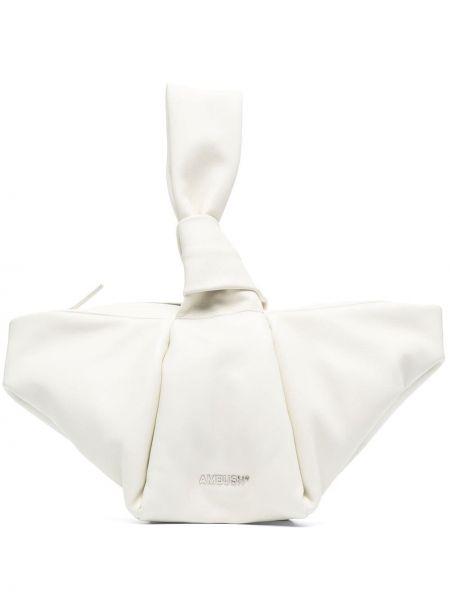 Biała torebka skórzana Ambush