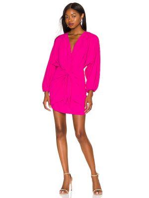 Шелковое платье - розовое Amanda Uprichard
