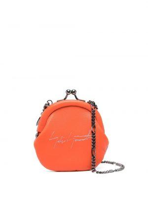 Оранжевая с ремешком кожаная ключница Discord Yohji Yamamoto