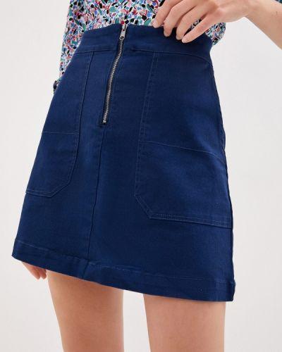 Синяя юбка свободного кроя Sela