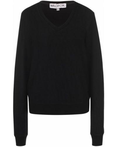 Черный свитер с V-образным вырезом Wildfox