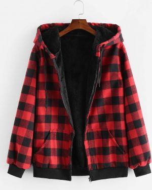 Плюшевая куртка с капюшоном с капюшоном Zaful