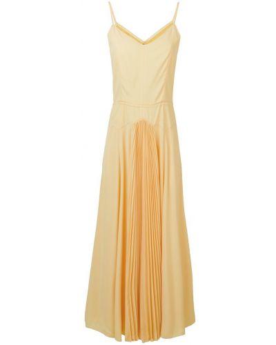 Расклешенное желтое платье на молнии Noon By Noor