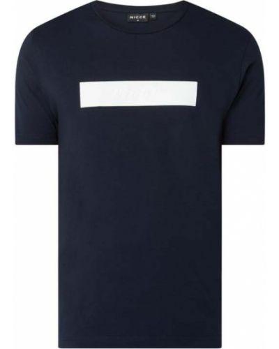 Niebieski t-shirt bawełniany Nicce