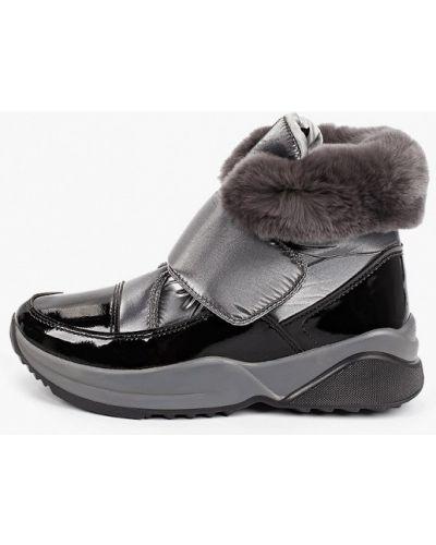 Лаковые серые кожаные ботинки Jog Dog