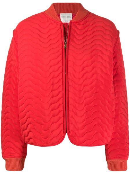 Красная стеганая куртка на молнии Forte Forte