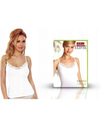 Biały t-shirt bawełniany bez rękawów Eldar