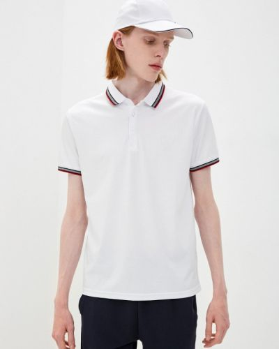 Белый поло с короткими рукавами Fine Joyce