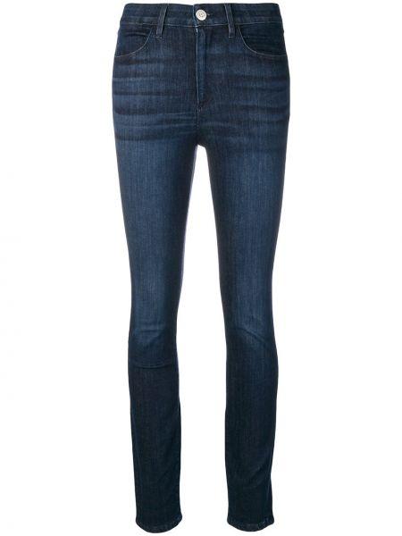 Облегающие зауженные джинсы - синие 3x1