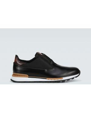 Кожаные кроссовки - черные Berluti